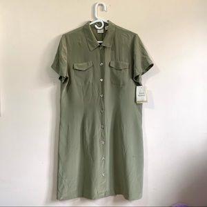 Emma James Vintage Silk Shirt Dress